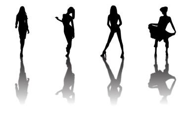 fashion models silhouettes 2