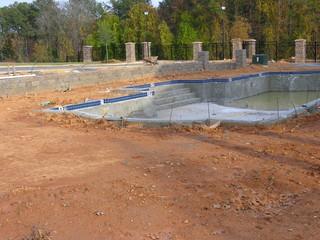 pool being built