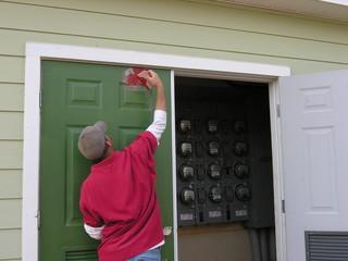 fixing closet door