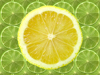 lime and lemon slice