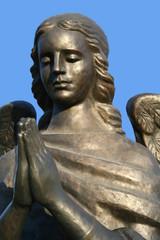 fragment of a bronze sculpture of a praying angel 5