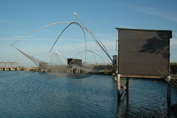 3 cabanes de pêche Wall mural
