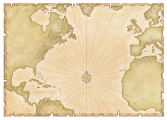 old atlantic map