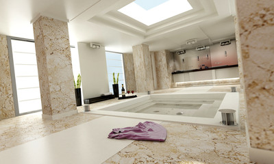 bathroom luxe marble white left