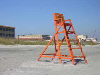 one lifeguard chair