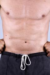 man's stomach