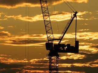 hoisting crane and sky