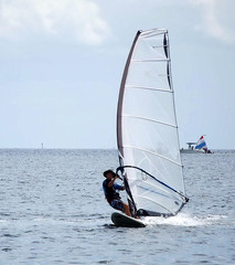 windsurfing on biscayne bay