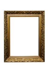 goldener bilderrahmen mit pfad