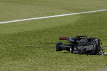 video camera on field