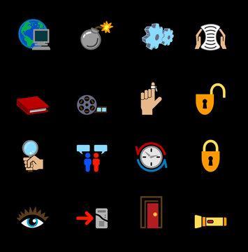 web and computing icons series set