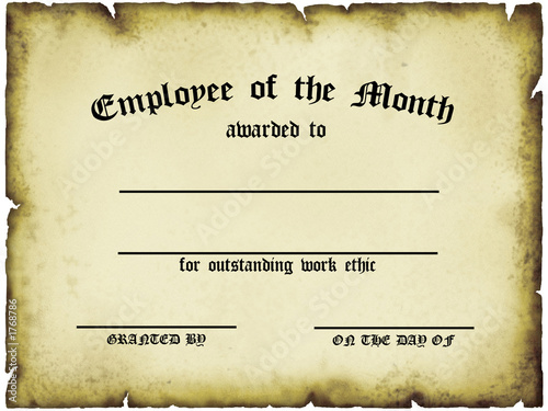 employee of the month certificate free