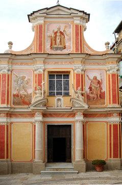 medieval church in seborga, italy