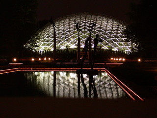 illuminated geodesic dome