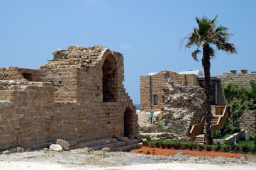 roman ruins at caesarea