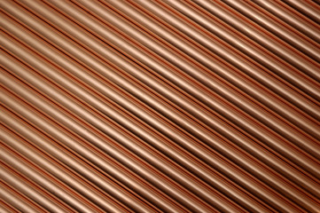 diagonal copper tubes