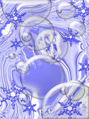 blue christmas abstract