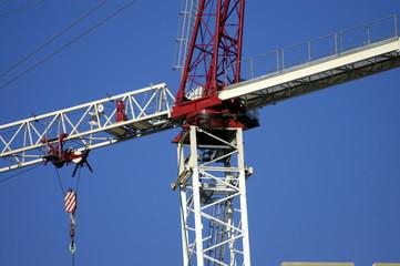 crane in blue sky