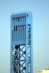 blue tower on blue sky