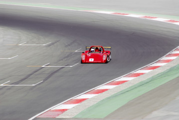 Deurstickers Snelle auto s red racing car