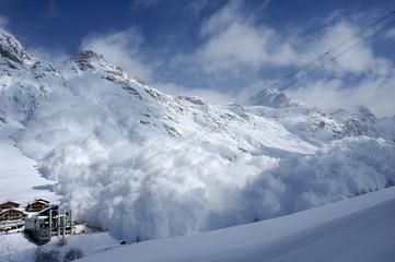 avalanche à val d'isère