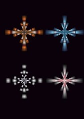 four beautiful stars designs