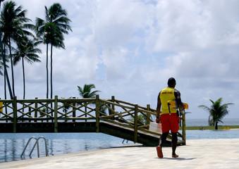 outdoor pool lifeguard