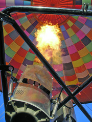hot-air balloon propane burner - vertical image