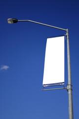 blank billboard flag on road
