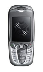portable phone with ripple on the black screen