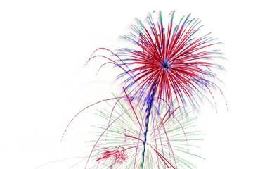 fireworks on white