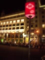metro station at night barcelona