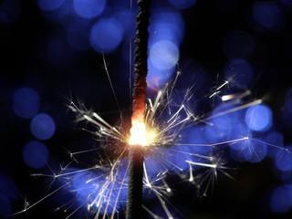 sparkler making fireworks