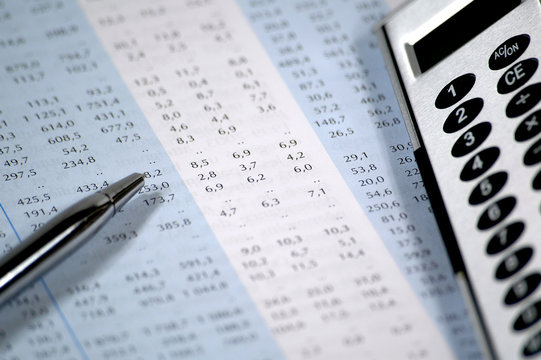 financial chart and report