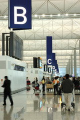 Poster Airport interior scene in airport