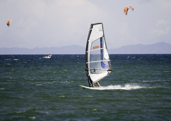 windsurfing on isla margarita