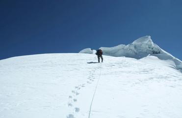 climber on the peak