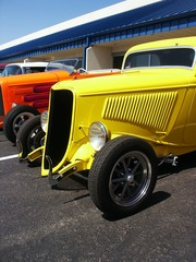 Fototapete - hotrods at a car show