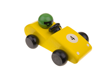yellow toy race car