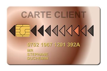 carte client fidélité
