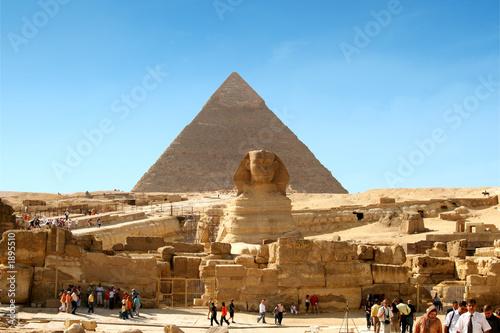 Great Sphinx, Chephren Pyramid, Giza, Egypt  № 2245309 без смс