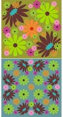 2 floral backgrounds