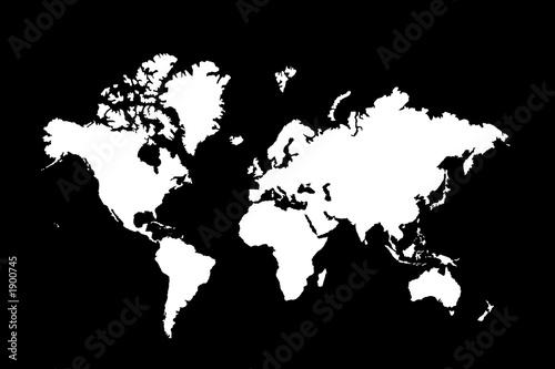 continents en blanc sur fond noir photo libre de droits sur la banque d 39 images. Black Bedroom Furniture Sets. Home Design Ideas