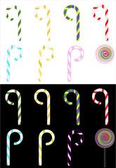 candy cane swirls