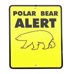 schild achtung polar bär