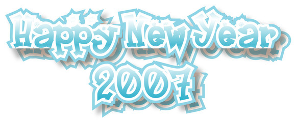 happy new year 2007 - vector illustration