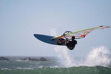 windsurfer jump