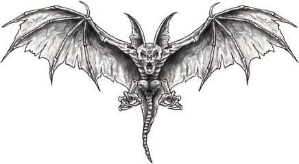 bat - fledermaus - zeichnung