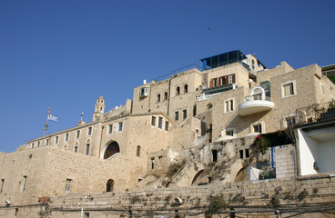 old jaffa (yaffo) port - view from the sea