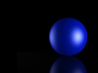 3d blue_ sphere